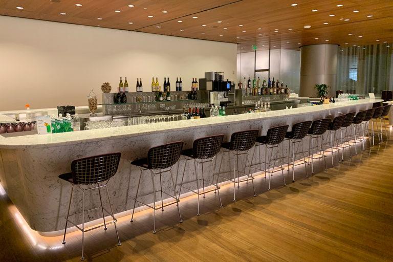 Qatar Airways Al Mourjan Business Lounge Doha bar