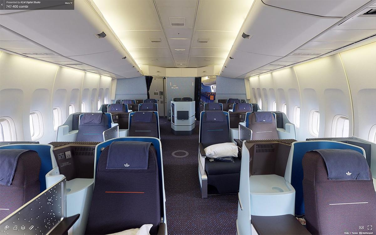 Virtuell omvisning i KLMs Boeing 747