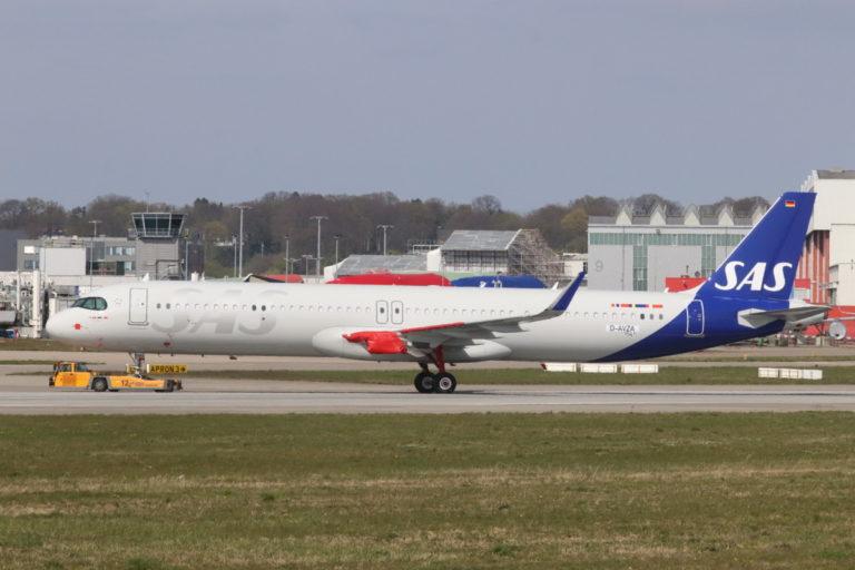 SAS Airbus A321LR Jarl Viking SE-DMO