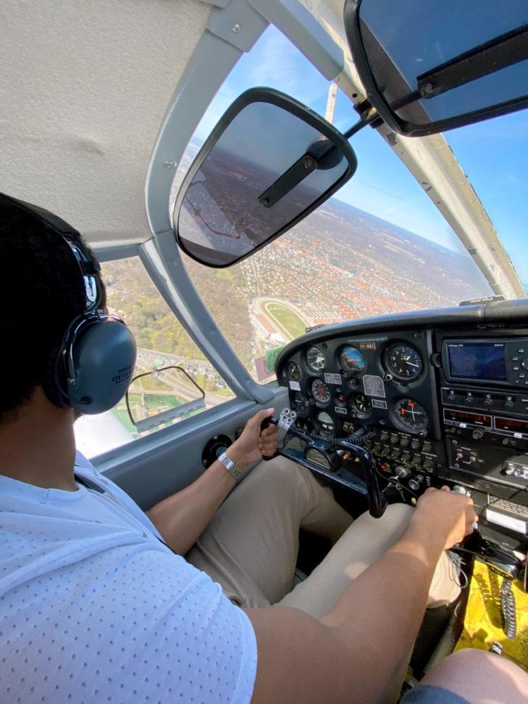 Daniel i sin Piper PA-28 Cherokee