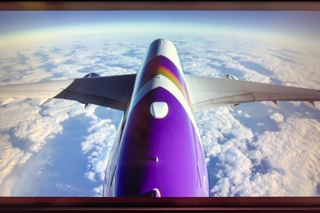 Thai Airways Airbus A350 rear view camera