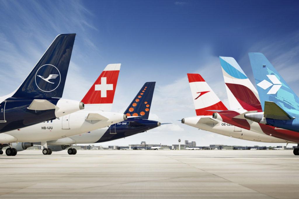 Lufthansa, SWISS, Brussels Airlines, Austrian, Germanwings, Eurowings