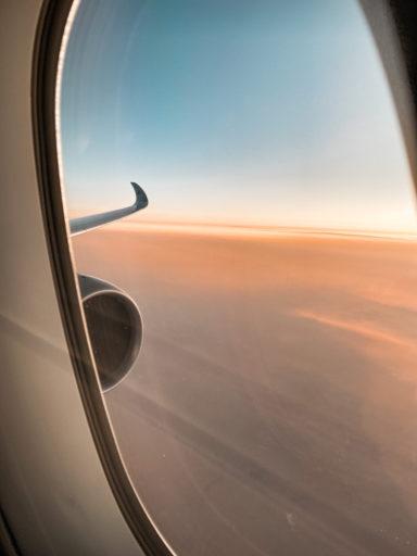 Utsikt fra flyvindu