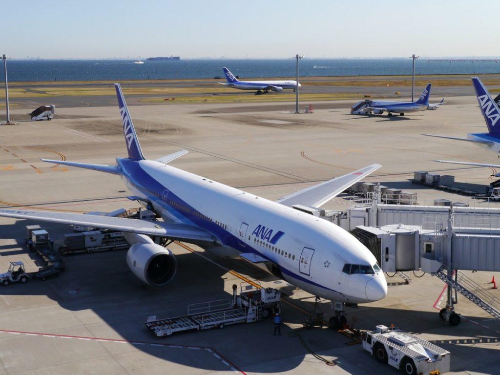 ANA - All Nippon Airways På Haneda-flyplassen i Tokyo