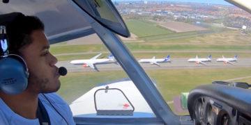 Low-pass over København Lufthavn Kastrup