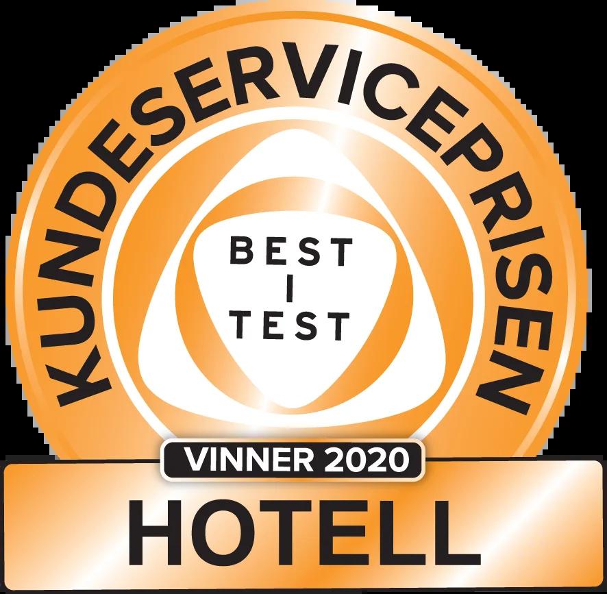 Kundeserviceprisen vinner 2020 hotell. I samarbeid med SeeYou og Confex