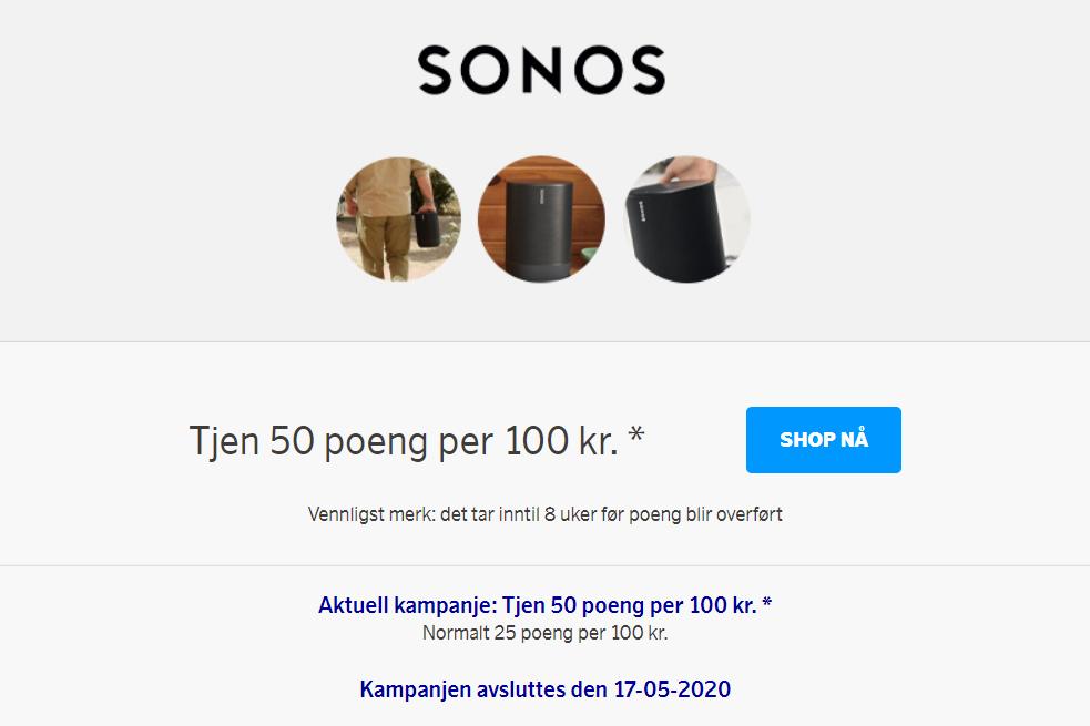 Sonos-kampanje med SAS EuroBonus