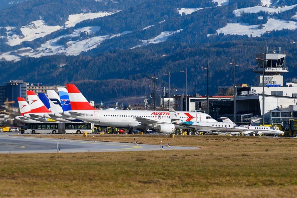 Flyplassen i Innsbruck.