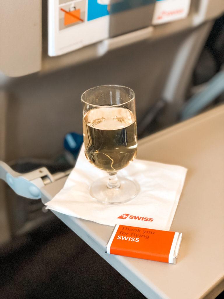 Om bord-service SWISS business class
