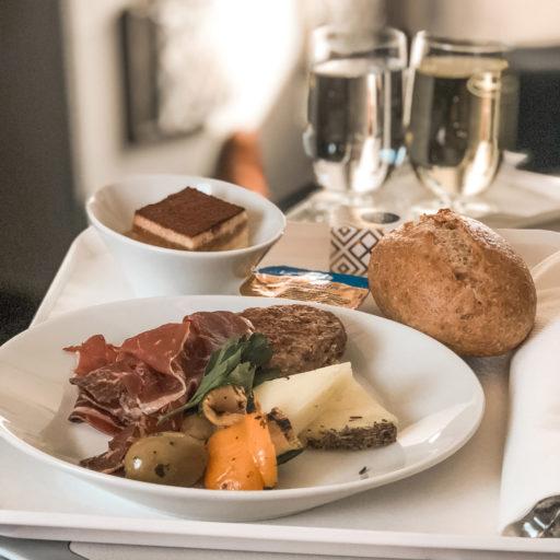 Om bord-service Lufthansa business class