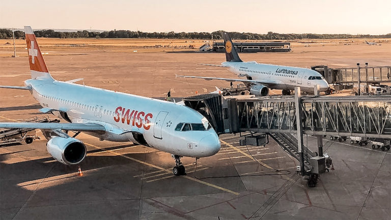 Normal om bord-service hos SWISS og Lufthansa