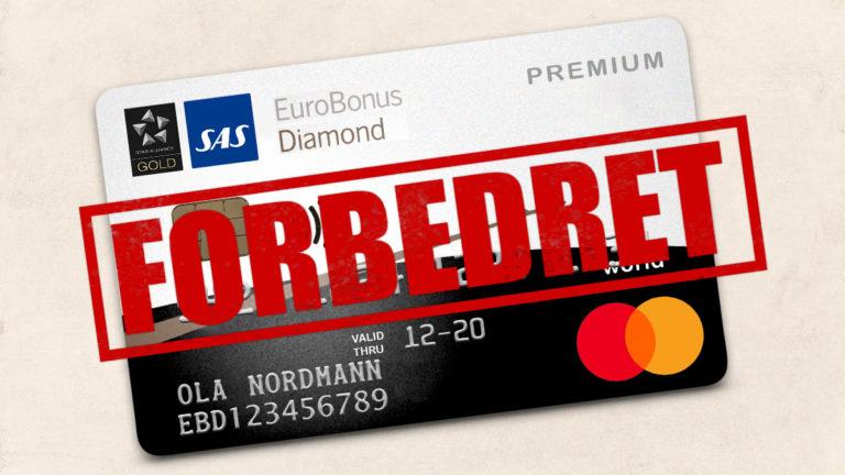 Dobler årsavgiften for SAS EuroBonus Mastercard Premium Diamond-medlemmer