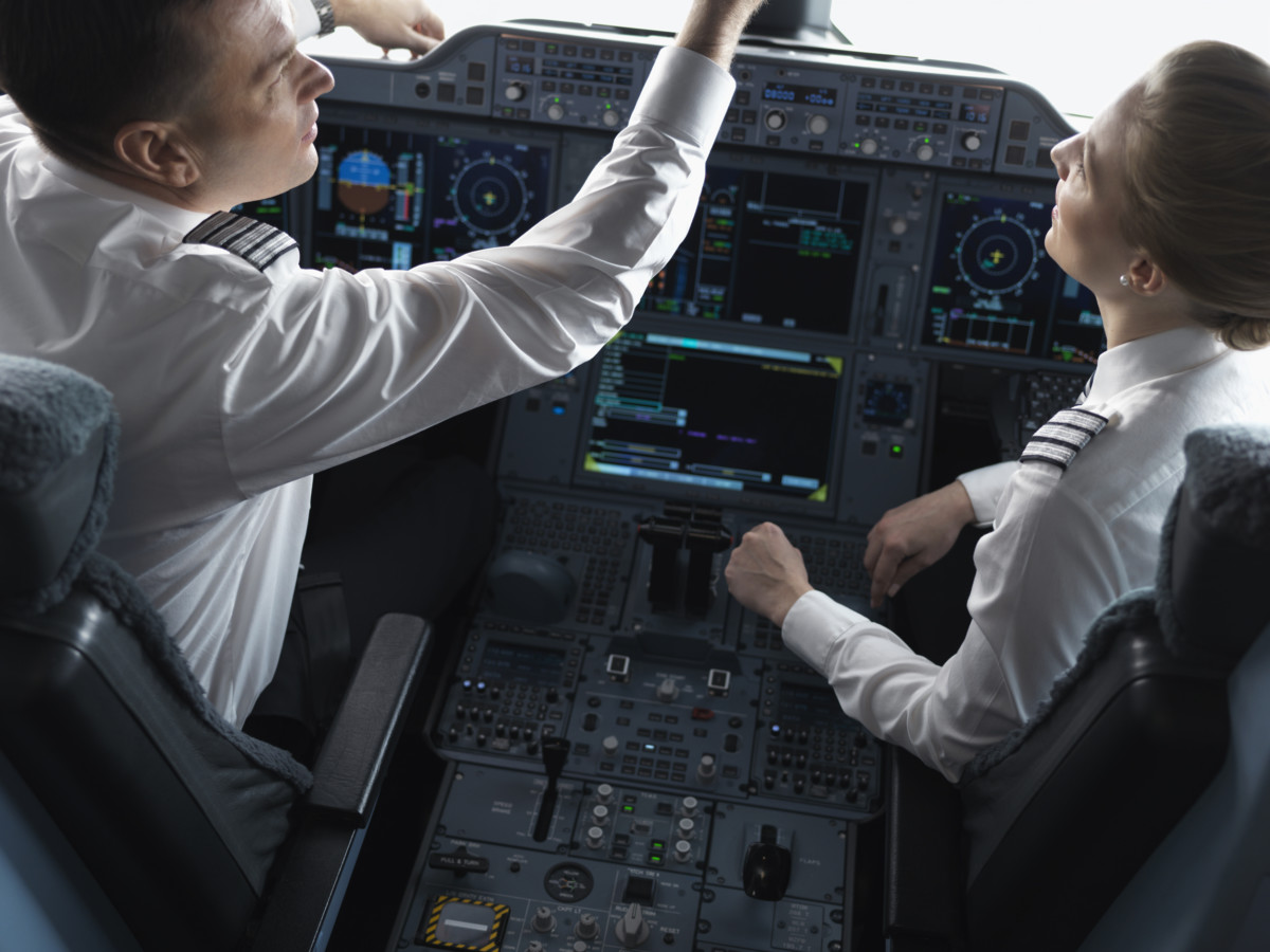 Finnair Airbus A350 cockpit