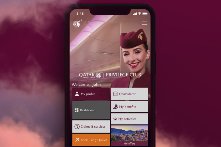 Qatar Airways mobil app