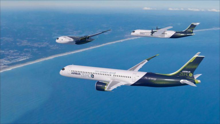 Airbus lanserer tre ZEROe utslippsfrie konsept-fly