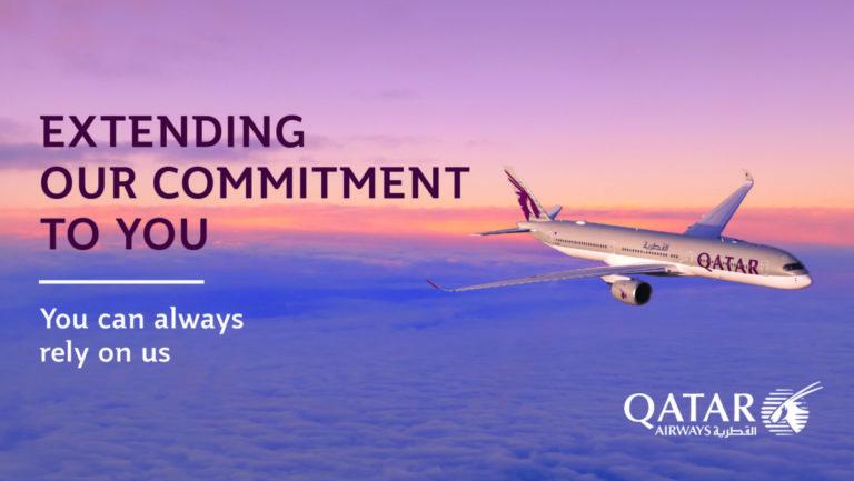 Qatar Airways forlenger fleksible regler for ombooking av avbestilling