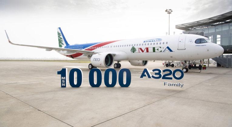 Airbus har levert A320-maskin nummer 10 000